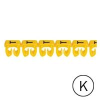 LEGRAND - CAB 3 merkteken - letter K zwart-gele achtergrond - 1,5-2,5 mm²