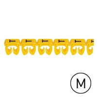 LEGRAND - CAB 3 merkteken - letter M zwart-gele achtergrond - 1,5-2,5 mm²