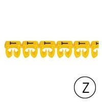 LEGRAND - CAB 3 merkteken - letter Z zwart-gele achtergrond - 1,5-2,5 mm²