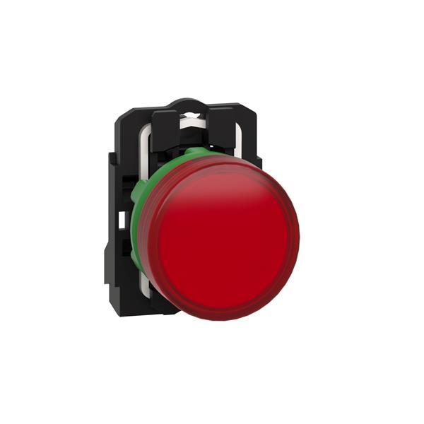 TELEMECANIQUE - controlelamp rond Ø 22 - IP 65 - rood - ingebouwde LED - 240 V - klemmen