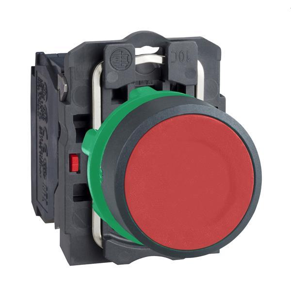 TELEMECANIQUE - drukknop rood Ø 22 - impulscontact  verzonken  - 1 NC