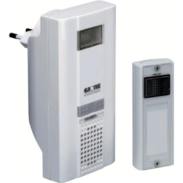 VANDER ELST - MISTRAL 400 Kit carillon S. fils 150m récept. 230V/6 melod/ FLASH /Blanc