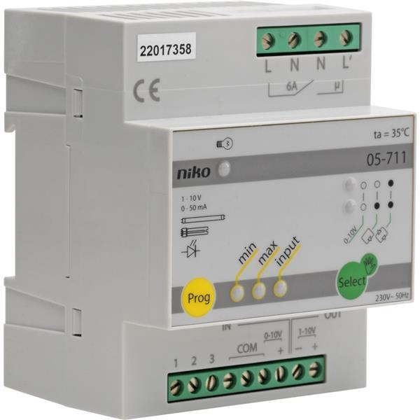 NIKO - Dimmer voor systemen met 1-10V stroomsturing