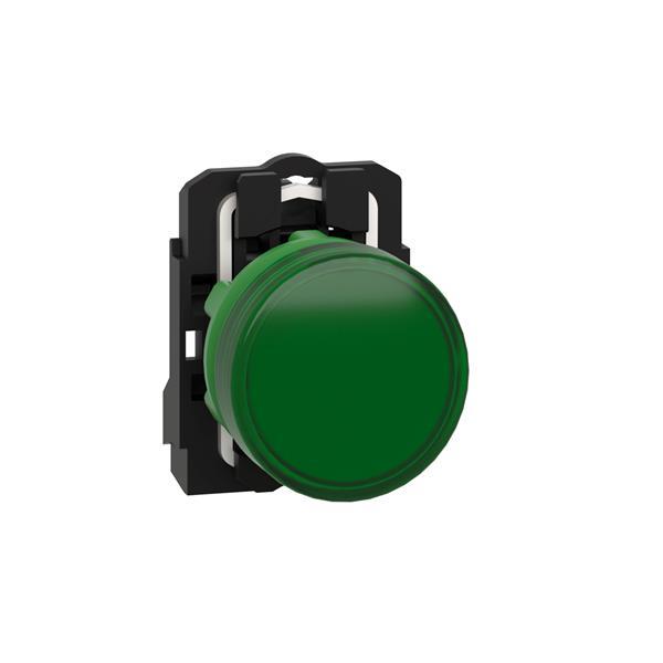 TELEMECANIQUE - controlelamp rond Ø 22 - IP 65 - groen - ingebouwde LED- 24 V - klemmen