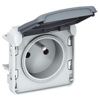 LEGRAND - Plexo contactdoos 2P+A  schroefklem 10/16A 250V - samenstelbaar - grijs