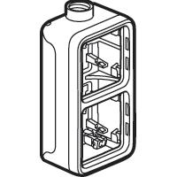 LEGRAND - Plexo opbouwdoos 2 mechanismen verticaal - 1 ingang M20 - grijs