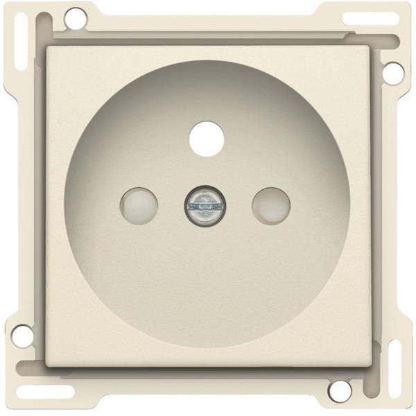 NIKO - Centraalplaat enkelvoudig voor wandcontactdoos 2P+A (pen) en veiligheid, crème