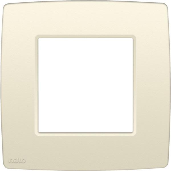 NIKO - Plaque de recouvrement (60mm) simple, crème