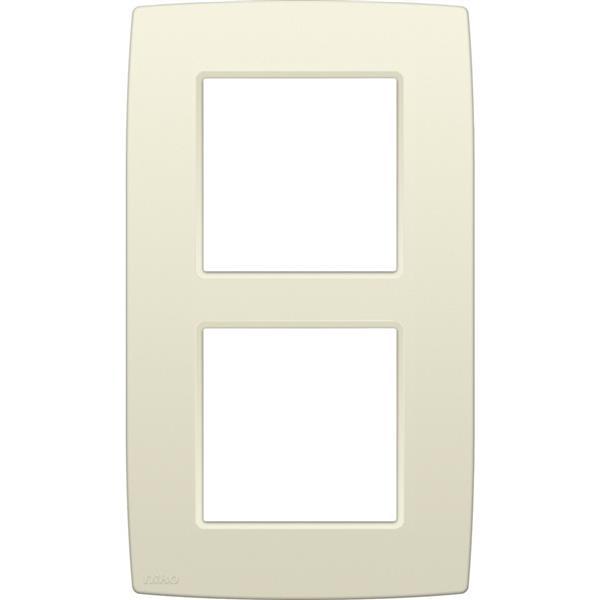 NIKO - Plaque de recouvrement (60mm) double vertical, crème