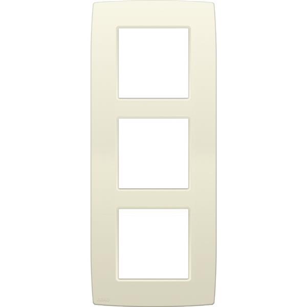 NIKO - Plaque de recouvrement (60mm) triple vertical, crème