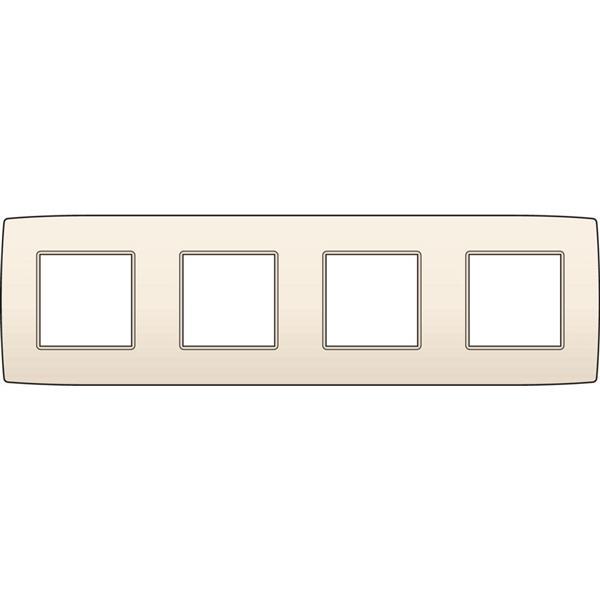 NIKO - Plaque de recouvrement (71mm) quadruple horizontal, crème