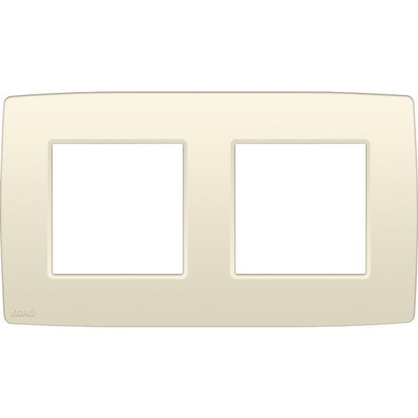 NIKO - Plaque de recouvrement (71mm) double horizontal, crème