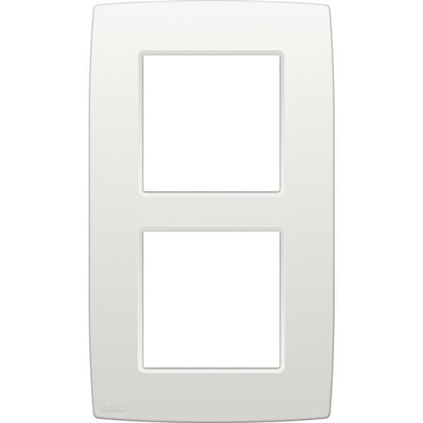 NIKO - Afdekplaat (60mm) 2-voudig verticaal, wit