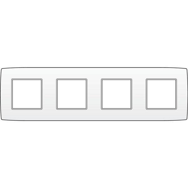 NIKO - Plaque de recouvrement (71mm) quadruple horizontal, blanc