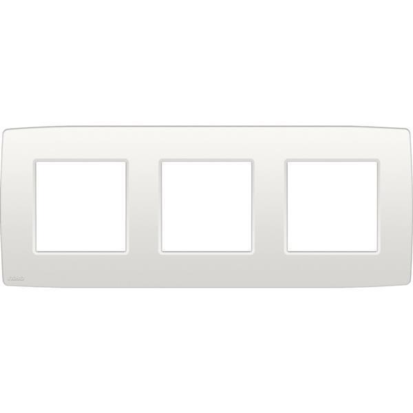 NIKO - Afdekplaat (71mm) 3-voudig horizontaal, wit