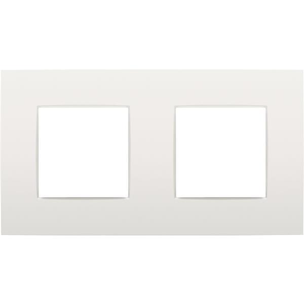 NIKO - Afdekplaat (71mm) 2-voudig horizontaal, wit