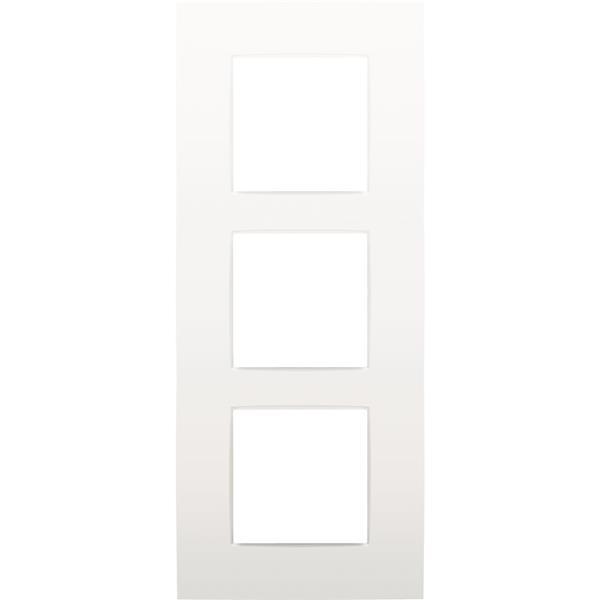 NIKO - Plaque de recouvrement (60mm) triple vertical, blanc