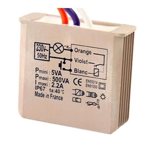 Yokis - Inbouw teleruptormodule 500W, 230V