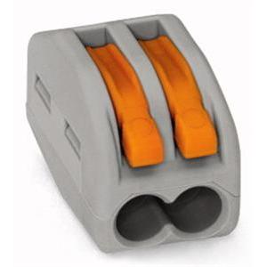 WAGO - Borne pour boîte de dérivation borne à 2 conducteurs avec levier de manipulatio