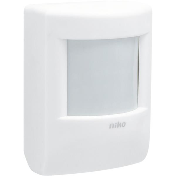 NIKO - Bewegingsmelder met lichtsensor, detectiehoek 90°, bereik 15m, IP20, wit