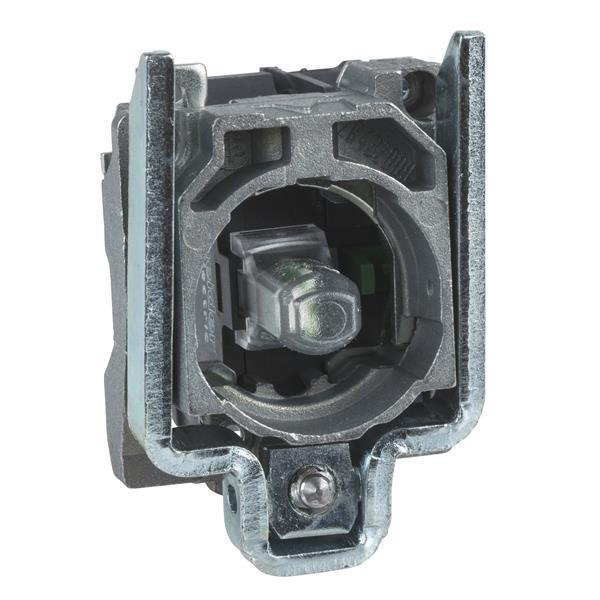 TELEMECANIQUE - Corps pour bouton lumineux - Ø22 - vert DEL intégrée 1O+1F