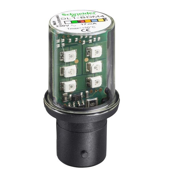 TELEMECANIQUE - signalisatielamp LED - rood - BA 15d - 230 V