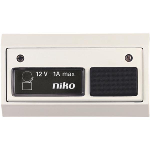 NIKO - Bouton sonnerie 12V AC 1A, avec lamp, blanc-blanc