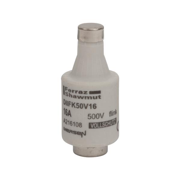 Mersen - Diazed fusible DII E27 16A  rapide 500V gris