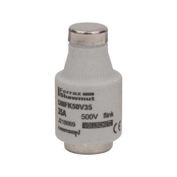 Mersen - Diazed fusible DIII E33 35A  rapide 500V noir