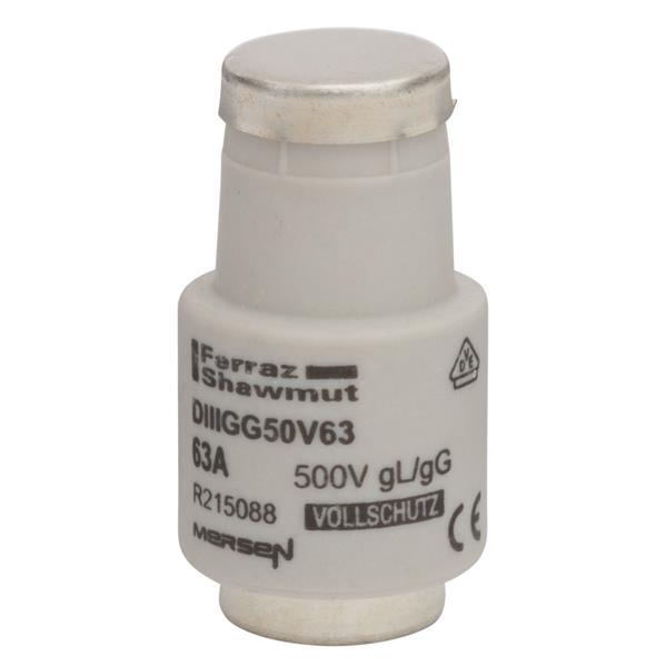 Mersen - Diazed zekering DIII (E33) 63A 500V gG traag - koper