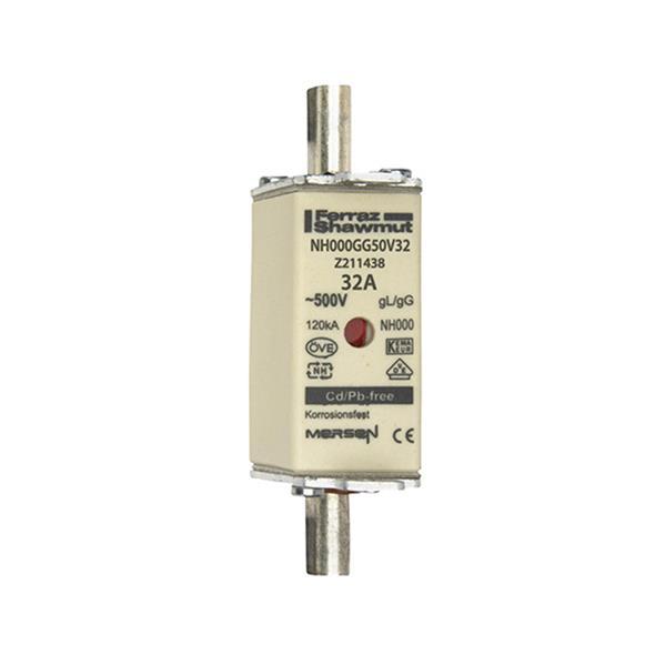 Mersen - Meszekering Grootte: 000 gG 500V 32A