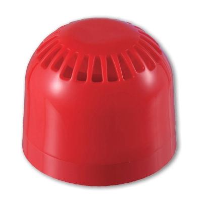UTC Fire & Security - Rode sirene 17-60V, IP21, 32 tonen, 94-106dB, lage sokkel Vds G 207126