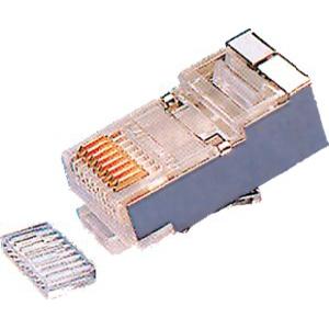 ELIMEX BVBA - Fiche RJ45 mâle avec guide - Blindé - Pour câble rond UTP/FTP - Cat. 6