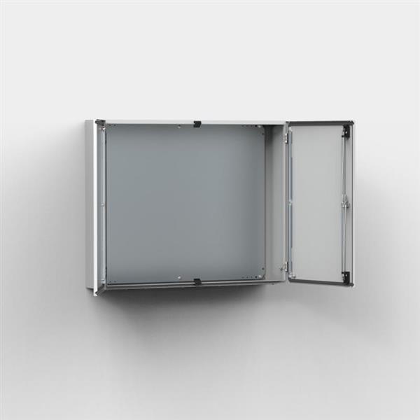 ELDON - Armoire murale, 1400x1000x300, Compacte, 2 porte, avec PM, acier, IP55 RAL7035 C