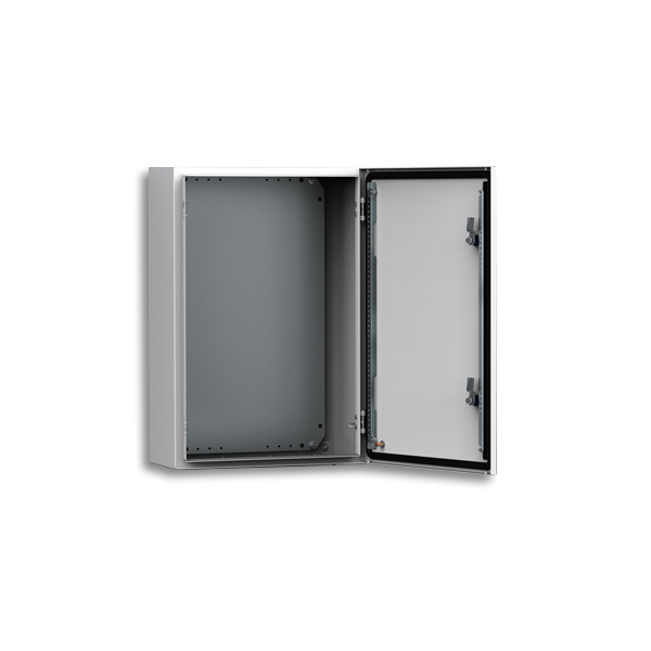ELDON - Armoire murale, 800x600x210, Compacte, 1 porte, avec PM, acier, IP66