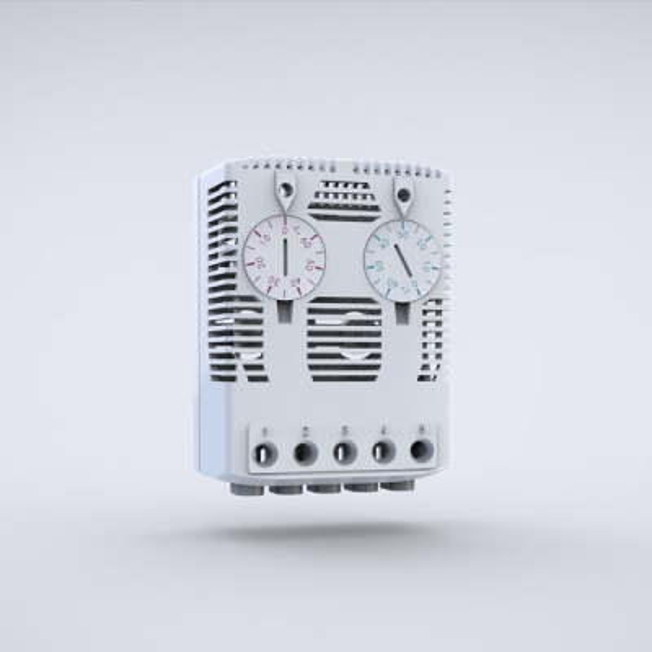 ELDON - Duo-thermostaat 120-250VAC UL