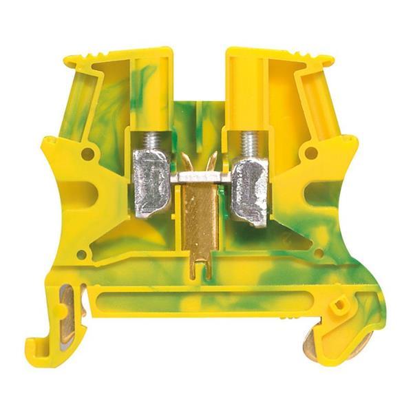 LEGRAND - Bloc vis vert/jaune 4 mm² Viking - pied métal - pas de 6