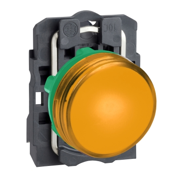 TELEMECANIQUE - controlelamp rond Ø 22 - IP 65 - geel - ingebouwde LED - 240 V - klemmen