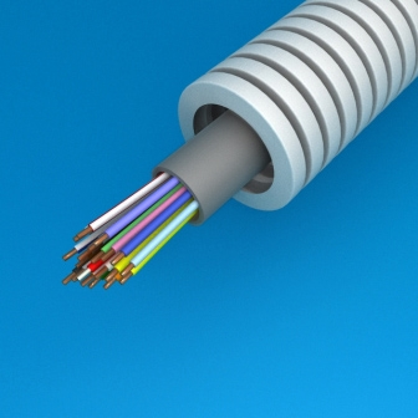 CABLEBEL - Preflex tube précâblé 20mm + SVV 20x0,8mm gris rouleau 100m