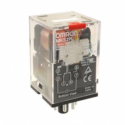 OMRON - Universeel relais, mechanische indicatie, vergrendelbare testknop, 230 VAC