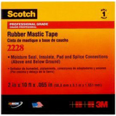 3M - 2228 Scotch zelffuserende isolatieband EPR 50,8mm x 3,5m zwart