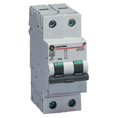 VYNCKIER - EP250 automatische schakelaar 25kA 2P 5-10In 20A
