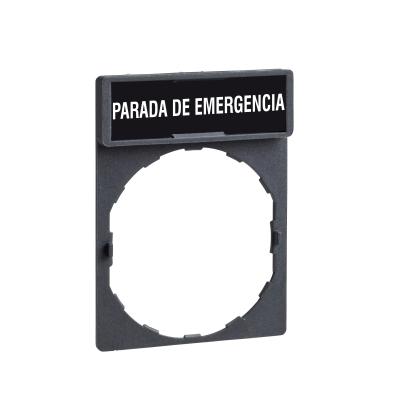 TELEMECANIQUE - Etikethouder 30 x 40 mm standaard - ø 22 - met etiket parada de emerge