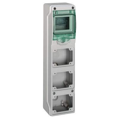 MERLIN GERIN - coffret mini Kaedra - pour prises - 98 x 392 mm - 4 modules - 3 ouvertures