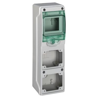 MERLIN GERIN - coffret mini Kaedra - pour prises - 98 x 310 mm - 4 modules - 2 ouvertures