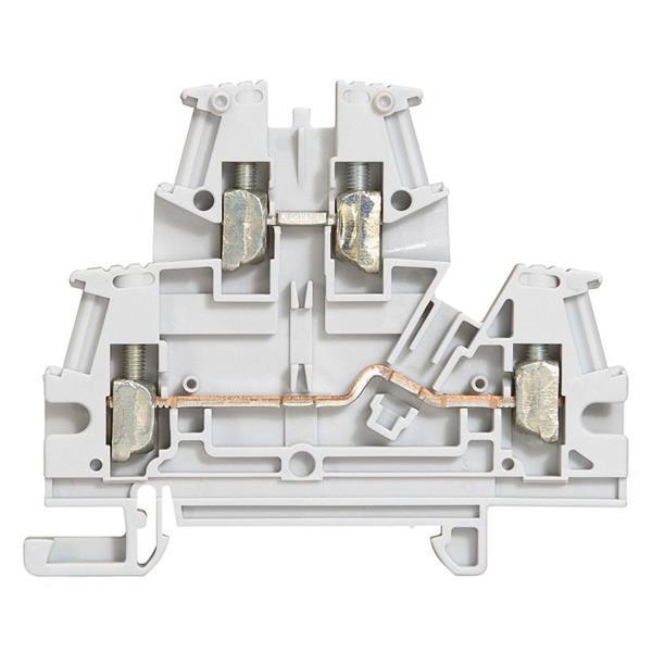 LEGRAND - Schroefklem 2 verbindingen - 2 verdiepen - 4 mm² (spoed 6mm), grijs - Viking 3