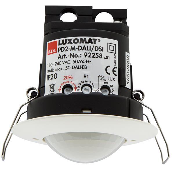 Luxomat - DÚtecteur de prÚsence PD2-mÔitre, DALI/DSI, portÚe Ï 10m, faux plafond