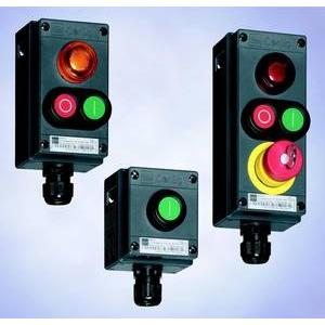 STAHL - Dubbele drukknop kast groen  I  / rood  0  ConSig