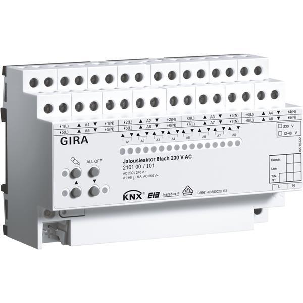 GIRA - Actionneur de store 8x 230 V AC KNX/EIB DIN
