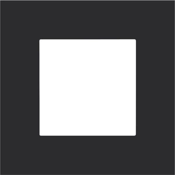 NIKO - Plaque de recouvrement (60mm) simple, noir